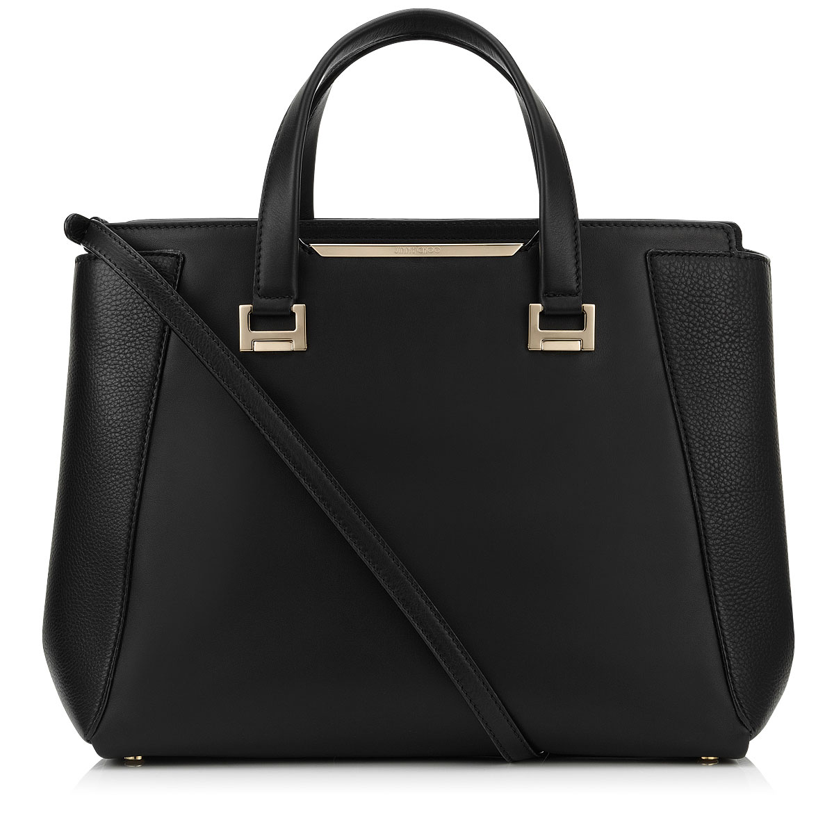 ALFIE L Black Soft Smooth and Soft Calf Leather Tote Bag