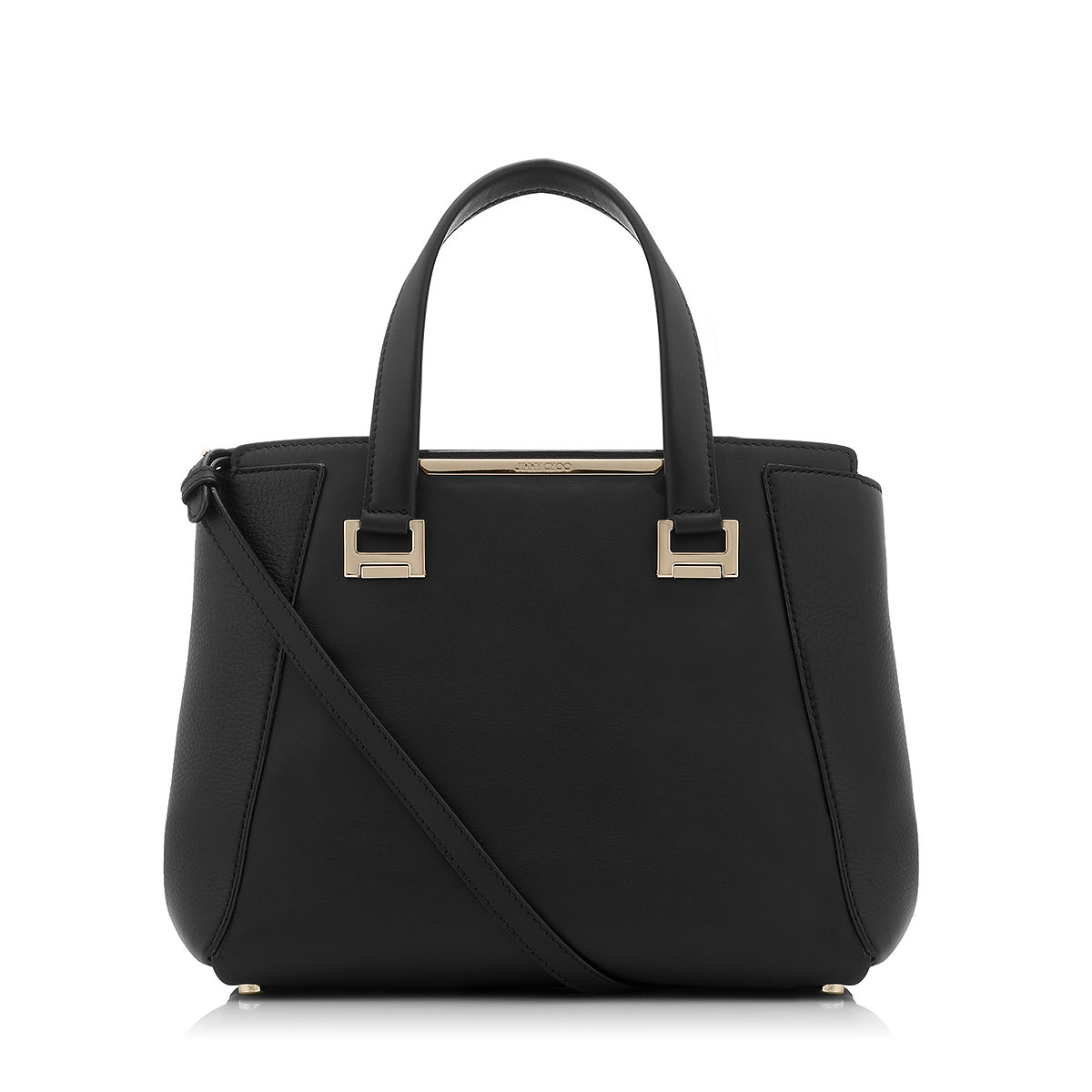 ALFIE Black Soft Smooth and Soft Calf Leather Tote Bag