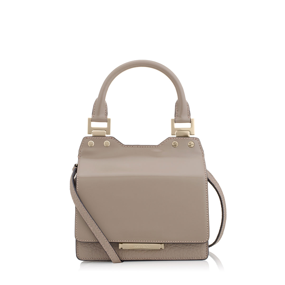 AMIE S Musk Spazzolato and Grainy Leather Small Tote Bag