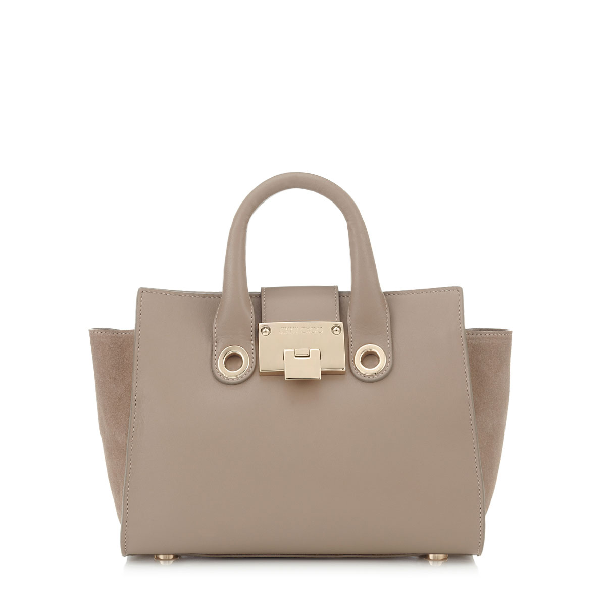 RILEY S Musk Smooth Leather and Suede Small Tote Bag