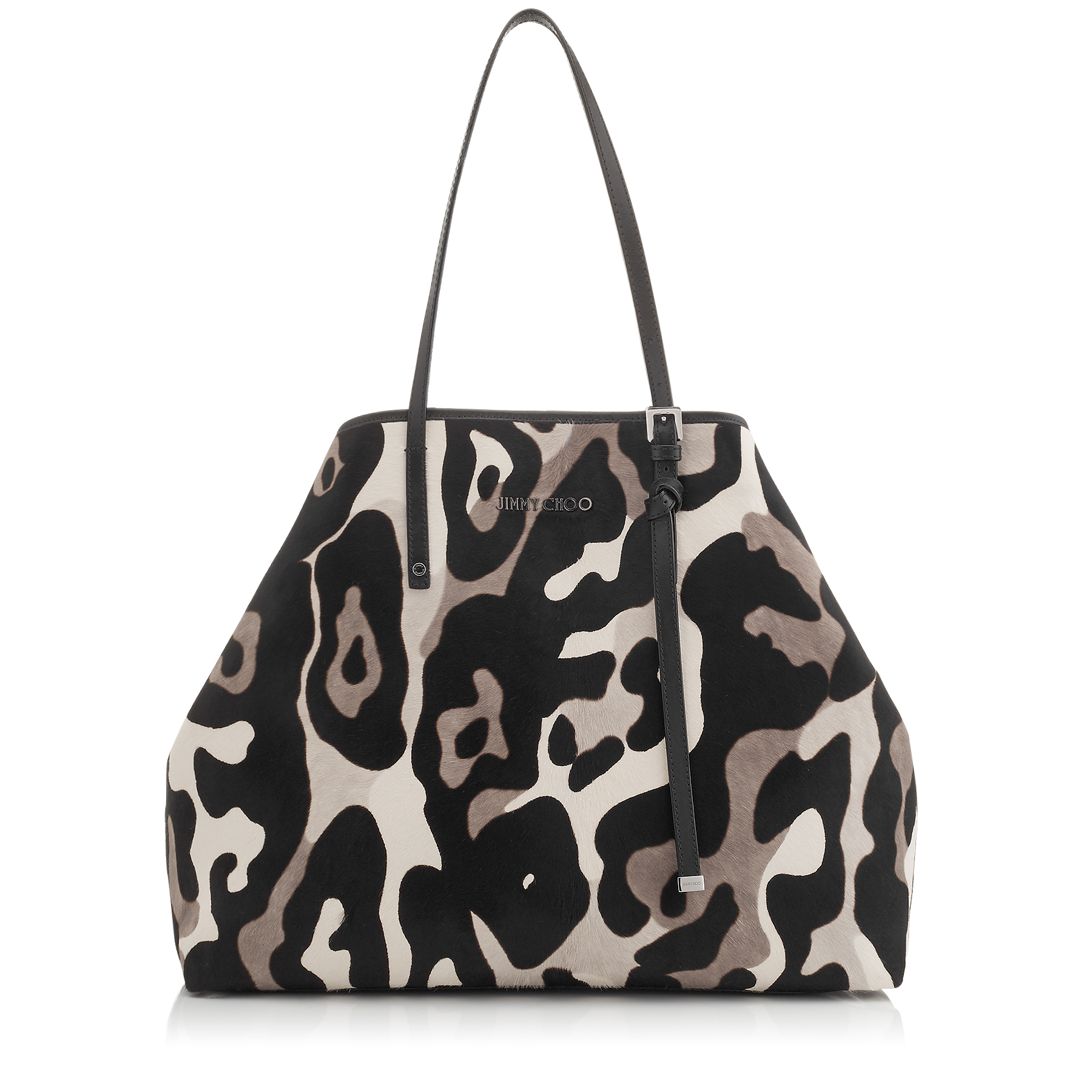 SASHA/L Mink Mix Camoleo Printed Pony Large Tote Bag