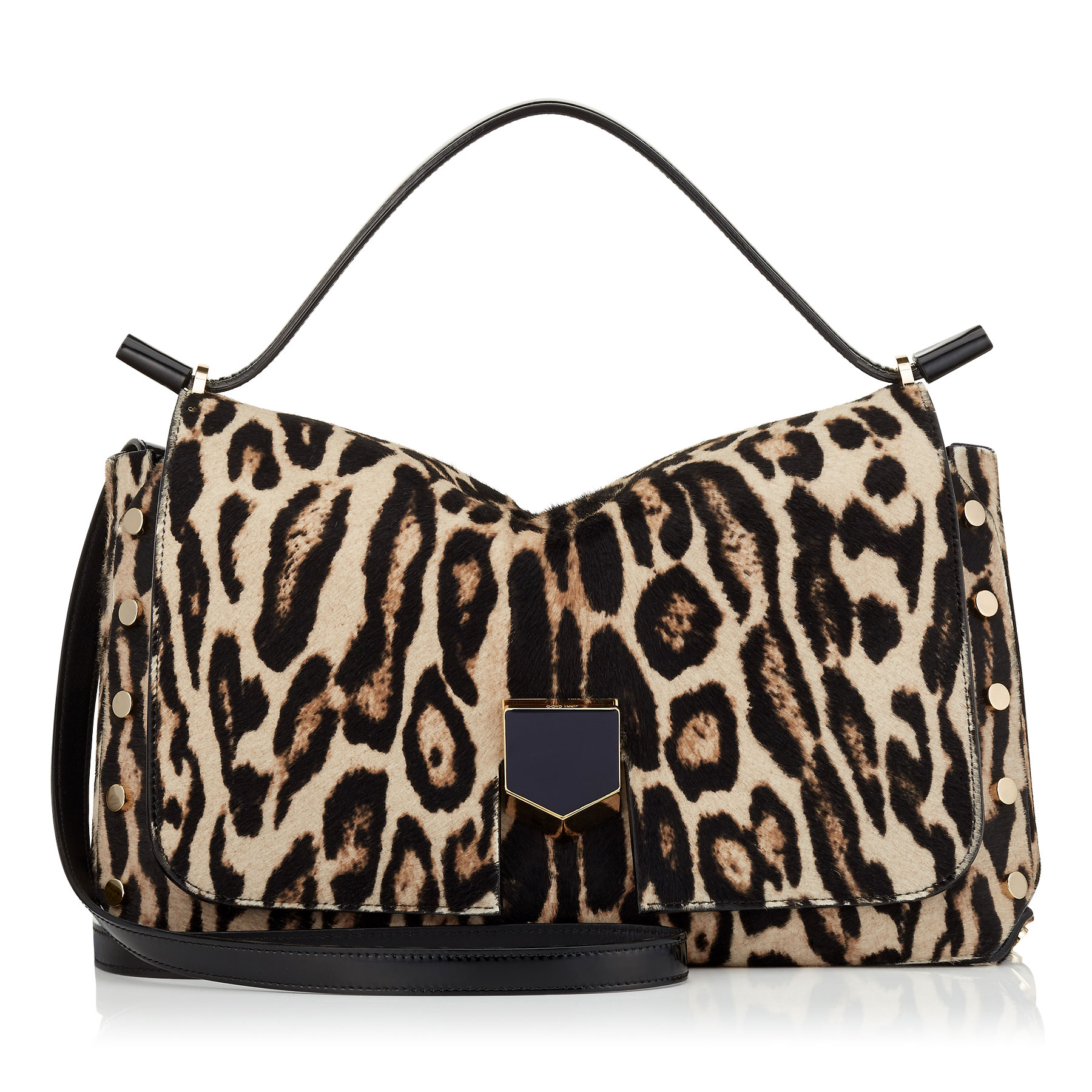 LOCKETT/M Snow Leopard Print Pony Handbag