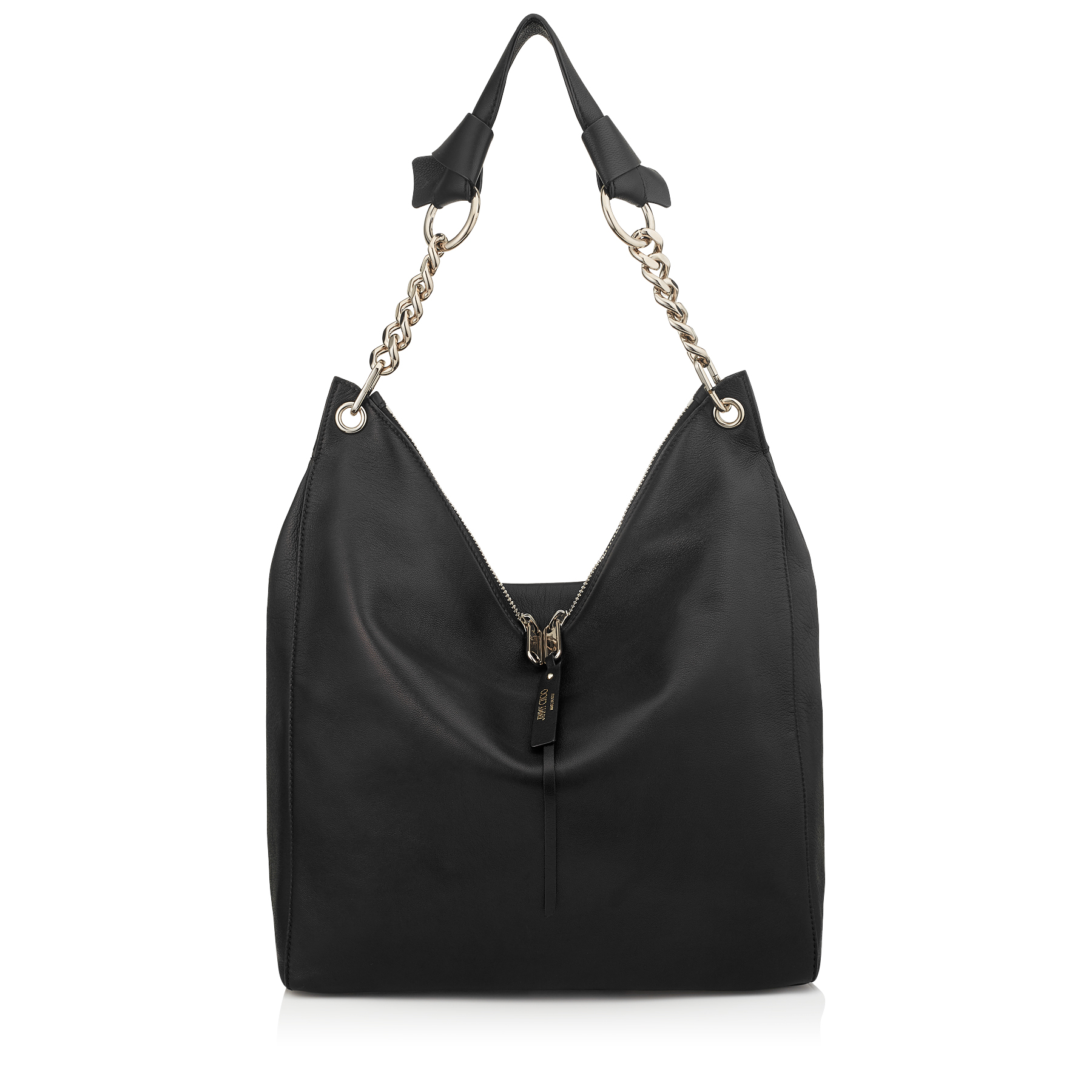 RAVEN Black Nappa Leather Shoulder Bag