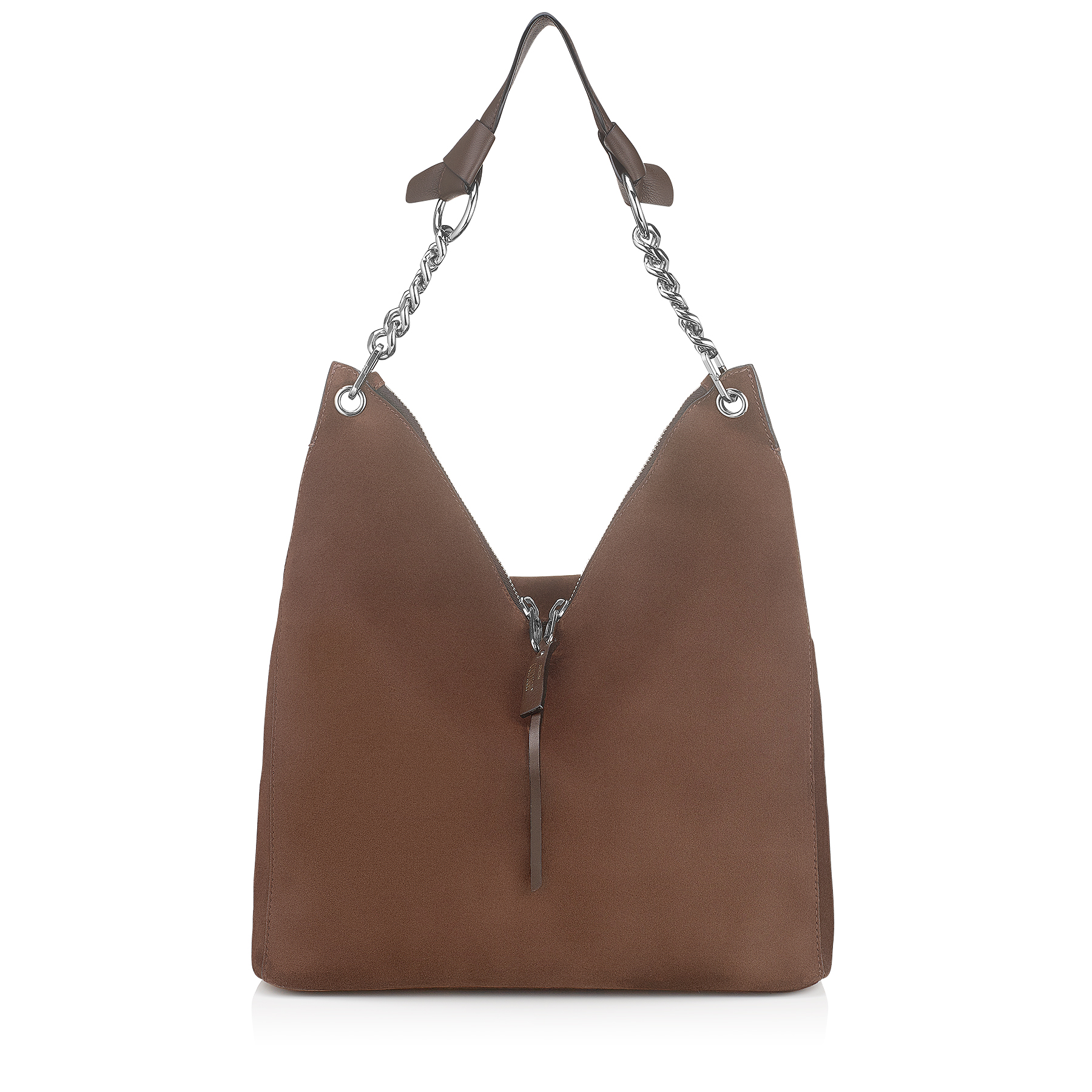 RAVEN Pecan Suede Shoulder Bag