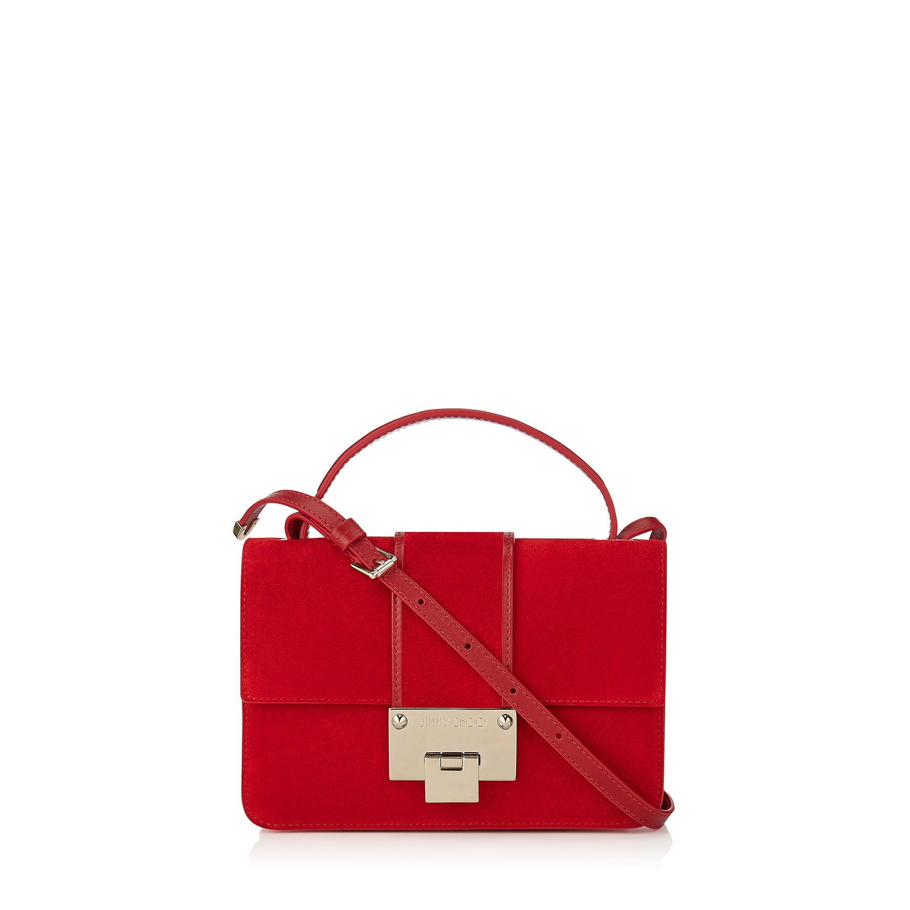 REBEL Red Suede Cross Body Bag