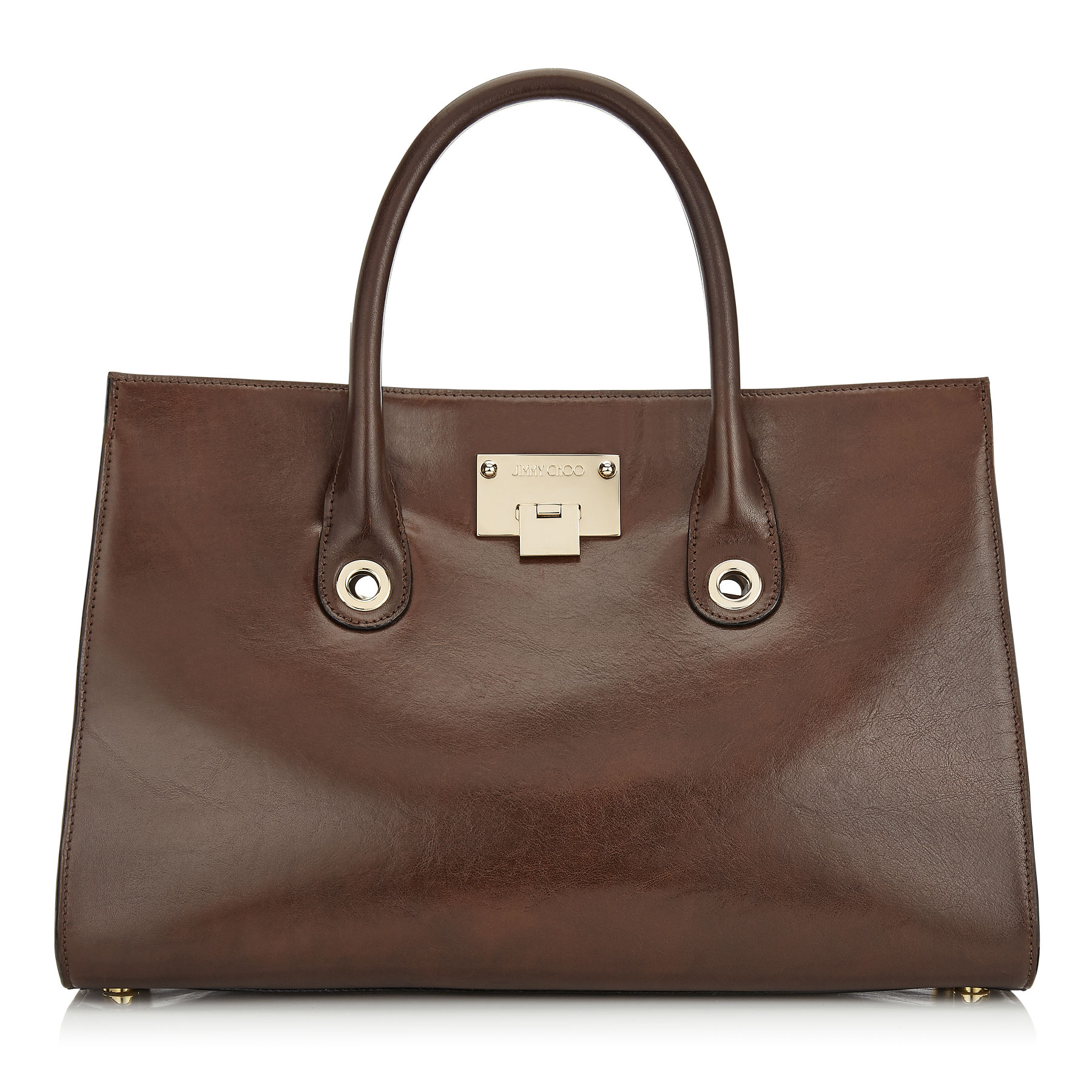 RILEY Ebony Natural Vegetable Dyed Leather Tote Bag