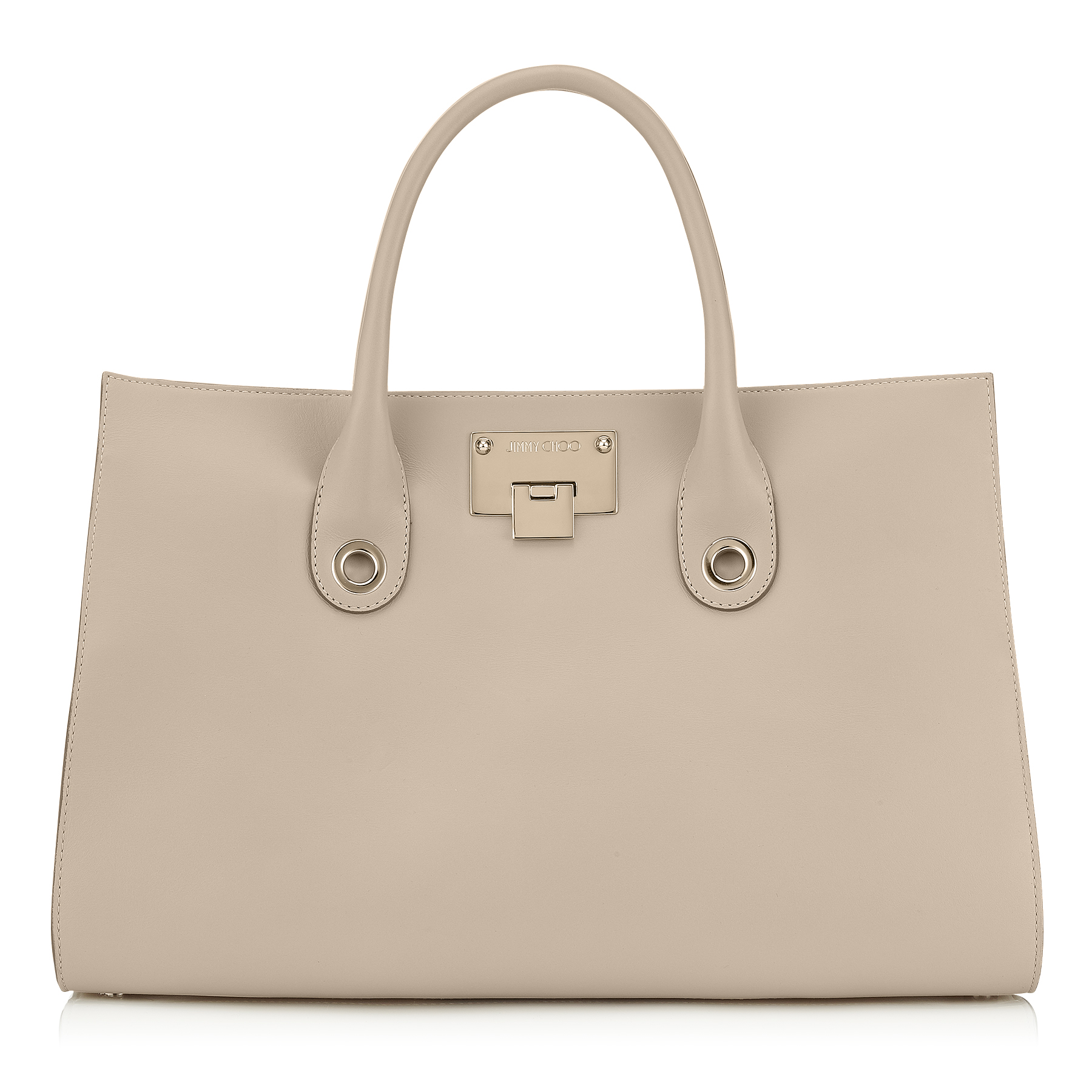 RILEY Marble Smooth Leather and Suede Tote Bag