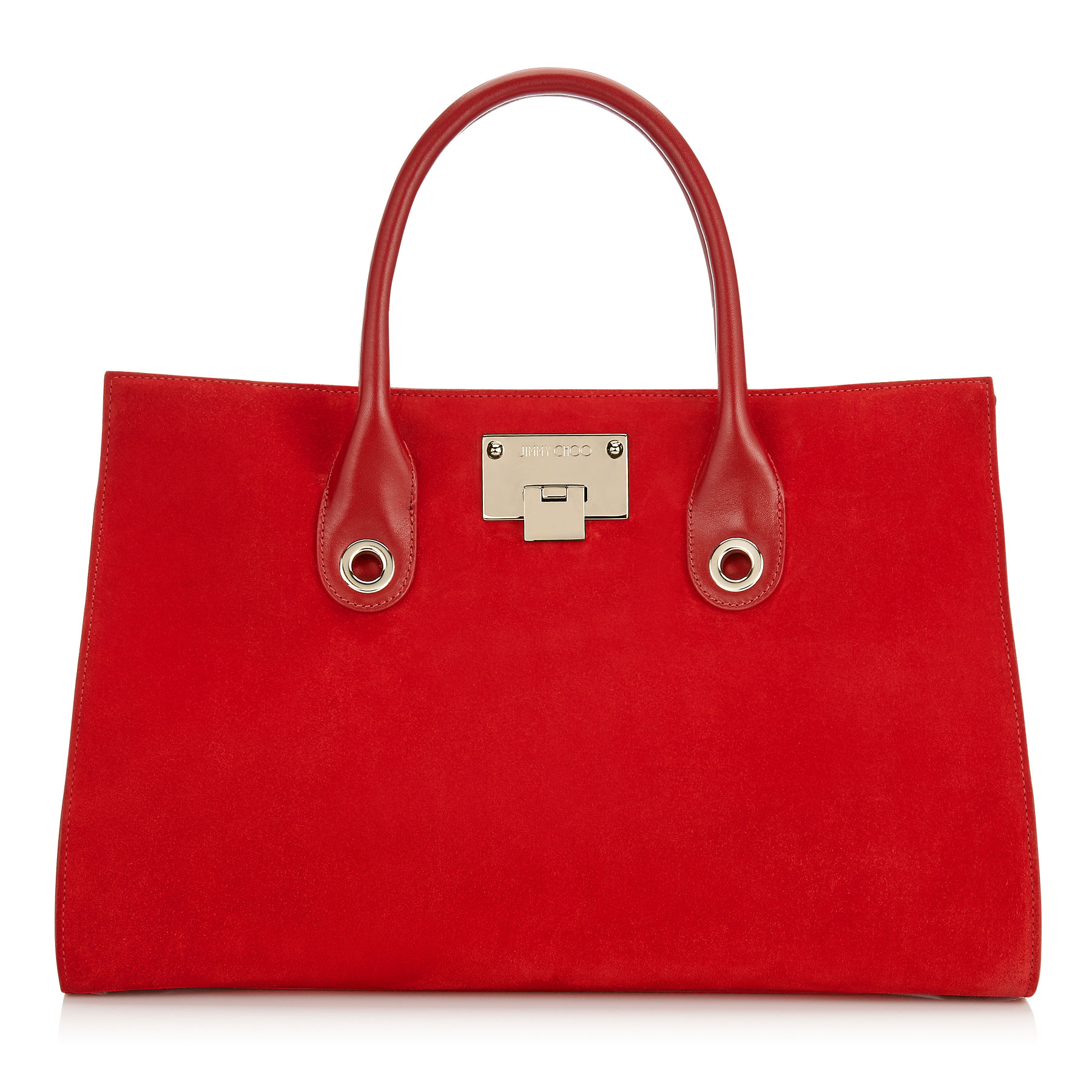RILEY Red Suede Tote Bag