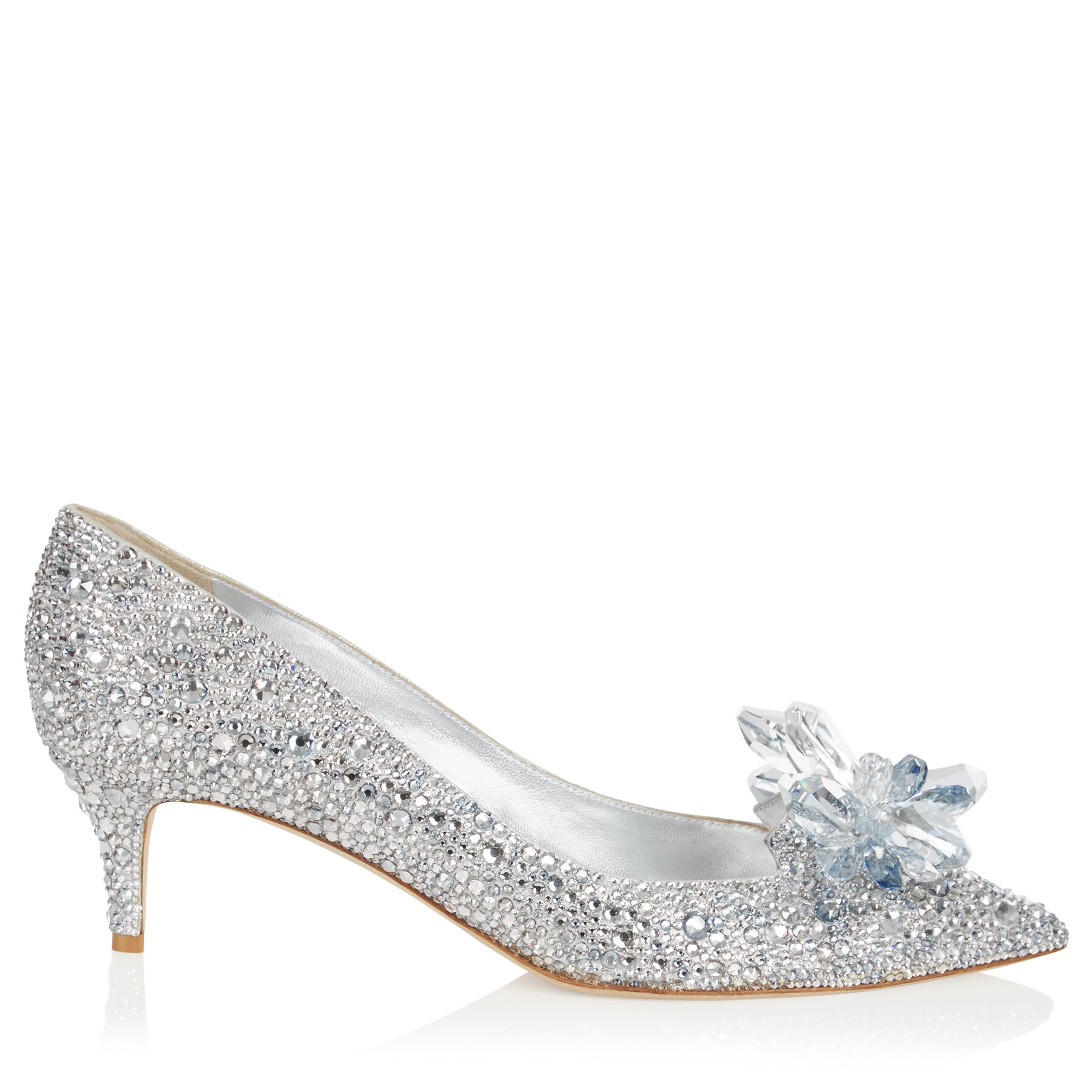 Crystal Covered Pointy Toe Pump